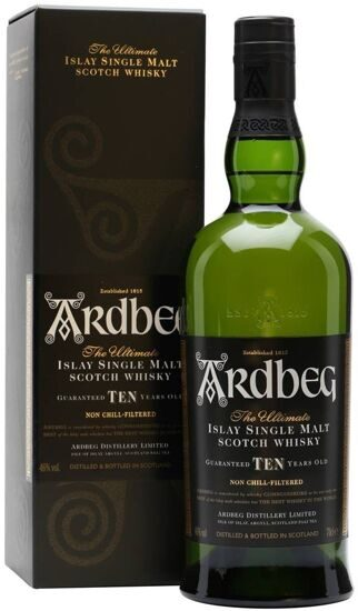 "Виски ""Ardbeg"" 10 YO, in gift box, 0.7 л"