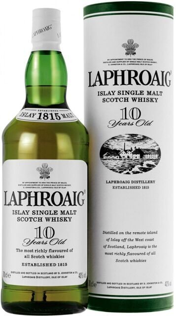 "Виски ""Laphroaig"" Malt 10 years old, with box, 0.7 л"